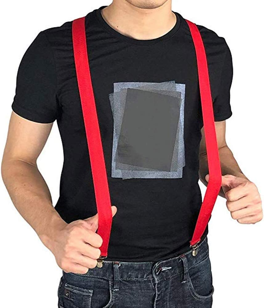 Eugeneq LED Glow Light Up Suspenders Adjustable Elastic Outdoor Sports Warning Chest Strap