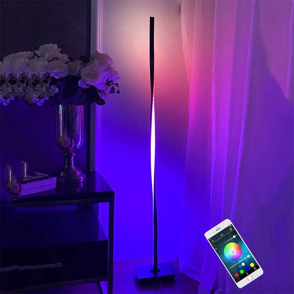 Google Assistant 20w Lampada da Pavimento per Soggiorno Ufficio Camera da letto Lavorare con Smartphone Alexa Intelligente Lampada da Terra RGB LED Piantana da Terra Dimmerabile Controllo Vocale
