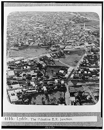 Foto: Lydda, Palestina R.R. Junction, Lod, Israel, 1932, antena ...