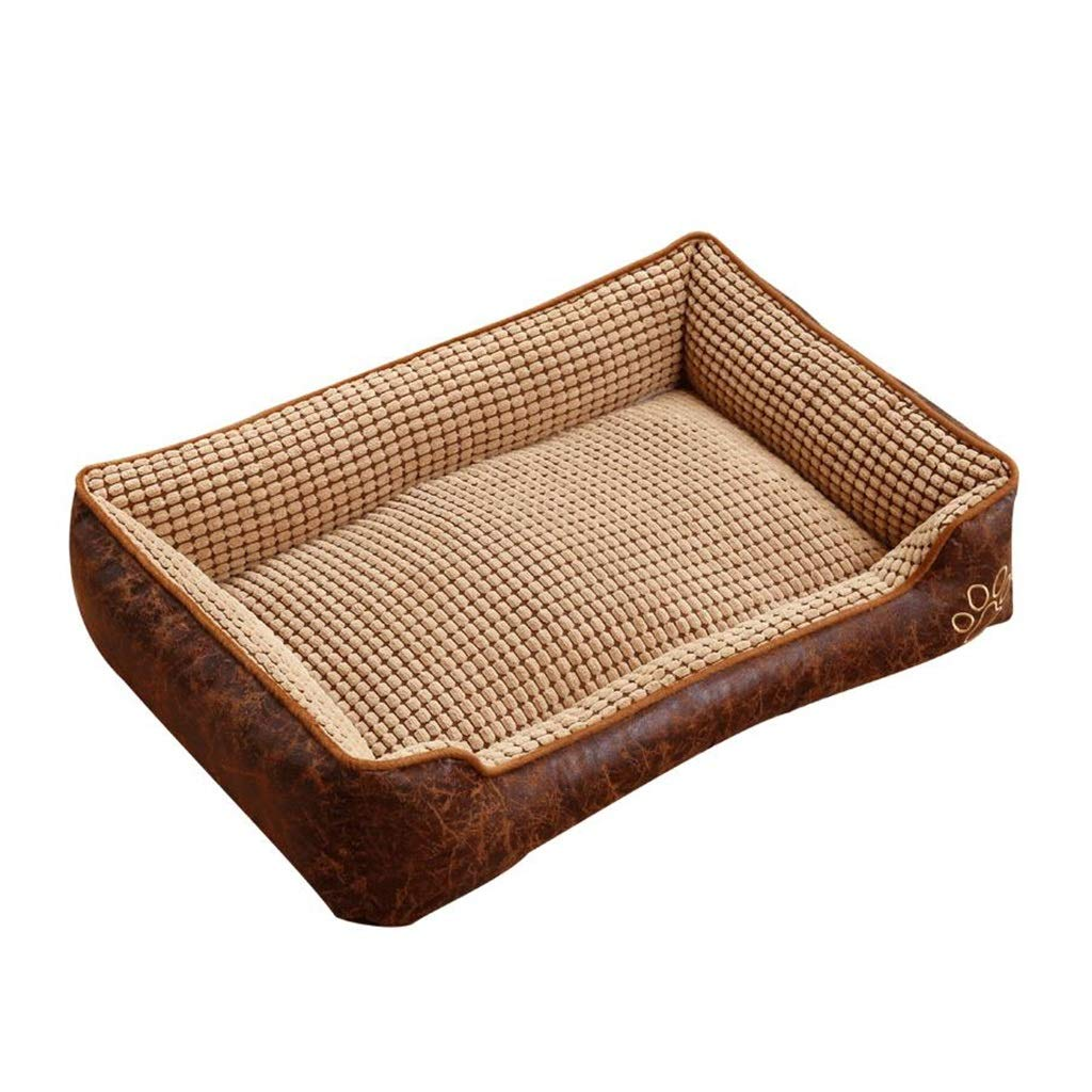 A MediumPet house Pet Dog Bed, Comfortable Soft Dog Mattress Pet Sofa Suitable For Medium And Large Dogs (color   A, Size   M)