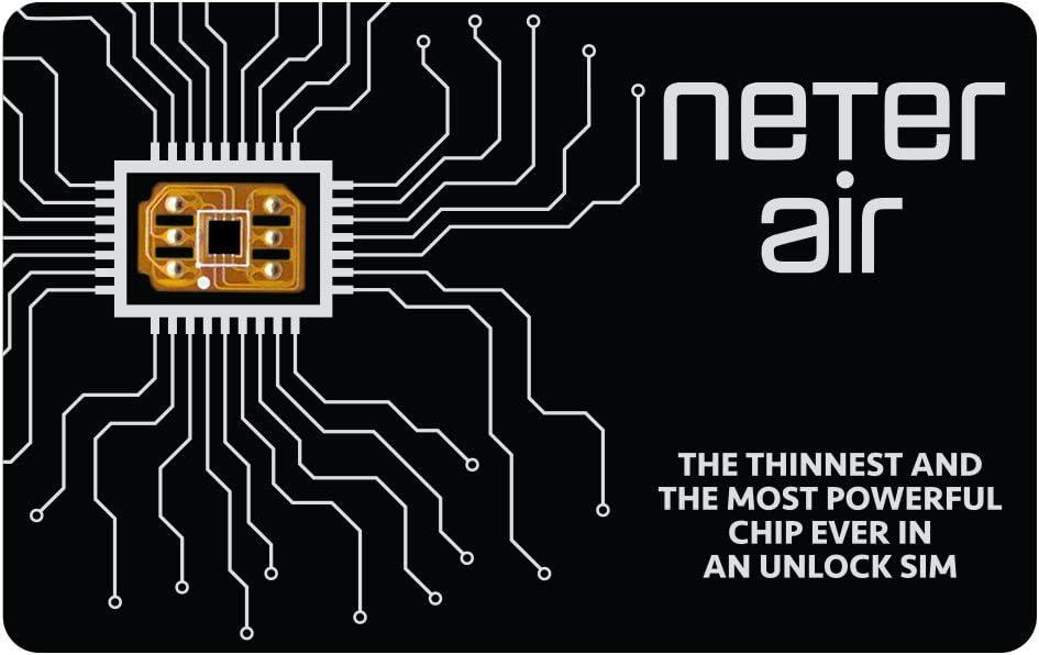 Neter Air Unlock Apple iPhone X 8 8+ 7+ 7 6S+ 6S 6 5C 5S 4S 4 GSM Verizon Sprint T-Mobile CDMA GPP Sim