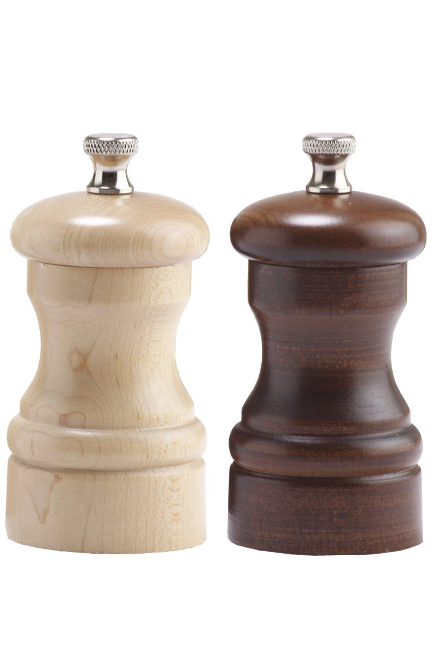 Chef Specialties 04202 Capstan Pepper Salt Mill Set, Walnut & Natural by Chef Specialties