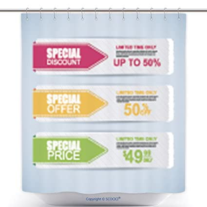 Amazon Com Vanfan Cool Shower Curtains Collection Sale Banners
