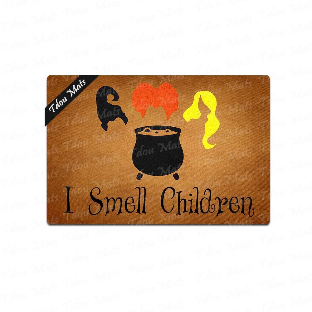 Tdou I Smell Children Doormat Entrance Floor Mat Funny Welcome Doormat Door Mat Decorative Indoor Outdoor Doormat 23.6 by 15.7 Inch Machine Washable Fabric Top