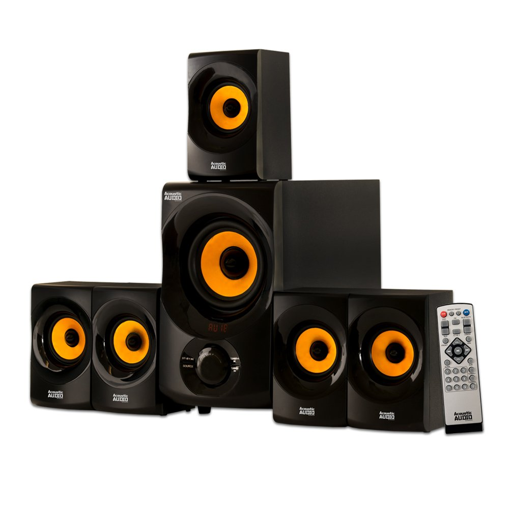 Acoustic Audio AA5170 Home Theater 5.1 Bluetooth Speaker System 700W with Powered Sub 61tNwZ4x7aL