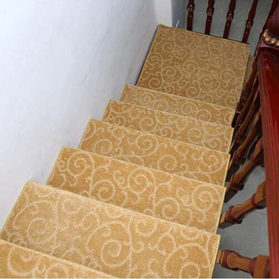 KY&CL Manta Antideslizante de Escalera, escaleras de Escalera de pisadas no Slip Juego Interior de 1 alfombras de Escalera Cubre Alfombrillas, (75 * 24cm),F,75 * 24 * 3cm: Amazon.es: Hogar