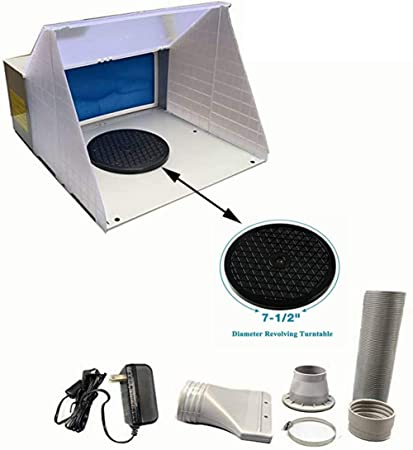 Portable Hobby Airbrush Paint Spray Booth Kit Exhaust Filter Extractor Model Set