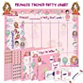 Potty Training Chart for Toddlers - Princess Design - Sticker Chart, 4 Week Reward Chart, Certificate, Instruction Booklet and More - for Girls