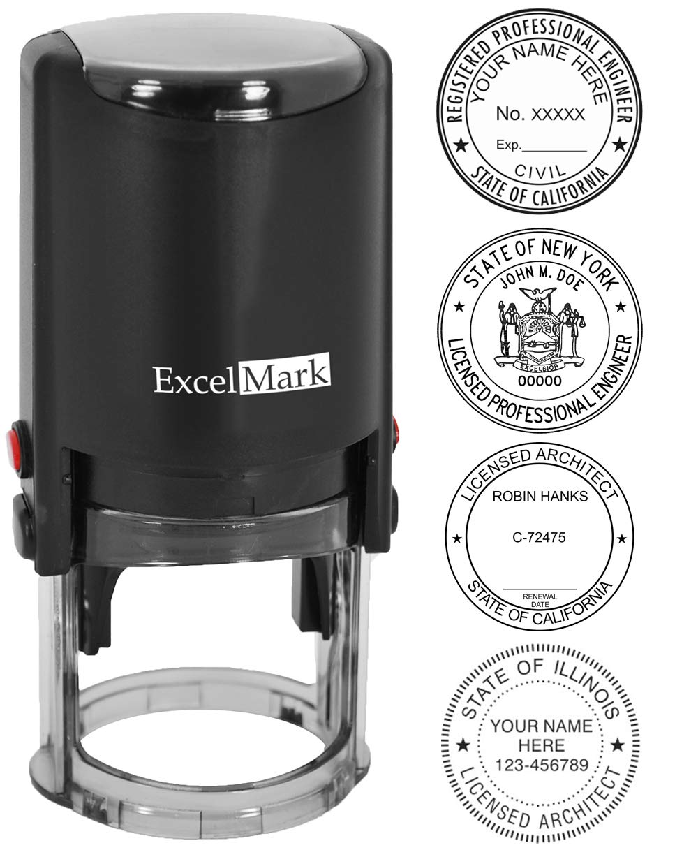 Self Inking Professional Stamp - Engineer / Architect by ExcelMark