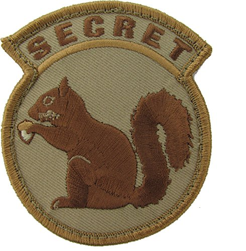 Mil-Spec Monkey Secret Squirrel Patch (Desert