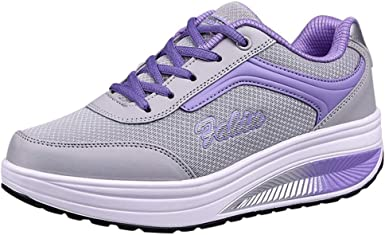 Platform Shoes Thick Heels Sneakers Women Casual Walking Pink Sneakers Shoes