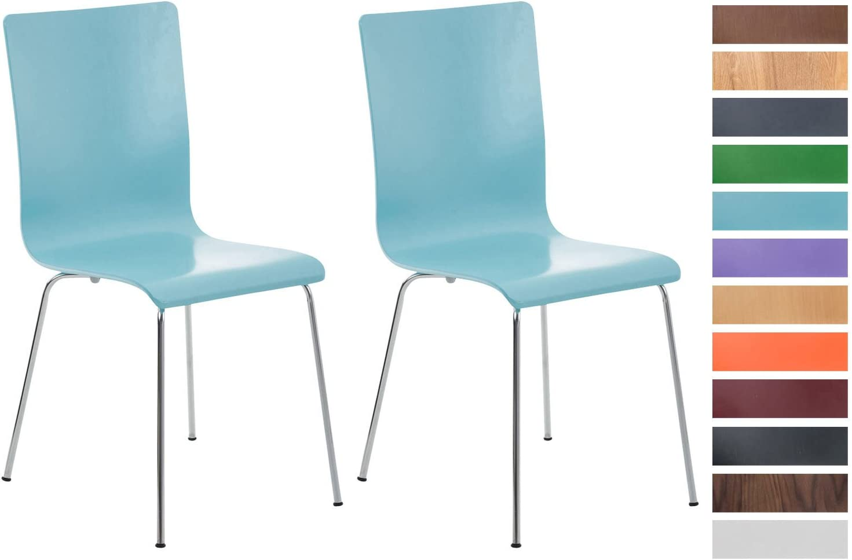 Farbe:braun 2er-Set Wartezimmerstuhl Pepe mit ergonomisch geformten Holzsitz und Metallgestell I 2X Konferenzstuhl I erh/ältlich