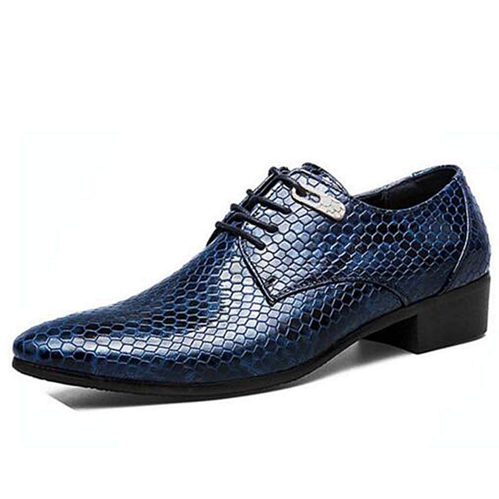 Mens Oxford Shoes Lace Up Casual Business Pointed Toe Formal Dress Shoes