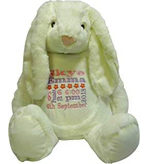 Bunny Personalised Mumbles Teddy Bear Soft Toy Birth Christening Birthday Gift