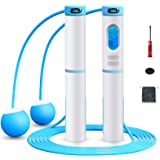 Jump Rope Digital Counting Weighted Rope Skipping With Calories Counter For Indoor and Outdoor fitness Exercises Cordless Ski