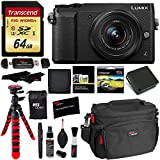 Panasonic GX85 4K Mirrorless Interchangeable Lens LUMIX Camera Kit With 12-32mm Lens, Polaroid Filter, Transcend 64 GB, Memory Card Wallet, Spare Battery, Ritz Gear Cleaning Kit & Accessory Bundle