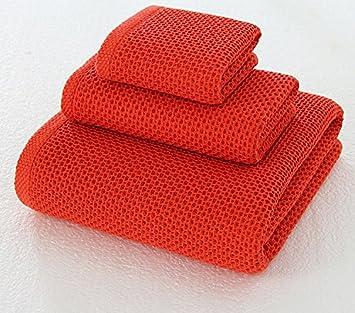 JUNHONGZHANG 3Pcs De 100% Algodón Honeycomb Toalla Toalla Toalla Toalla De Playa Hotel Don,Rojo para La Decoración del Hogar: Amazon.es: Hogar