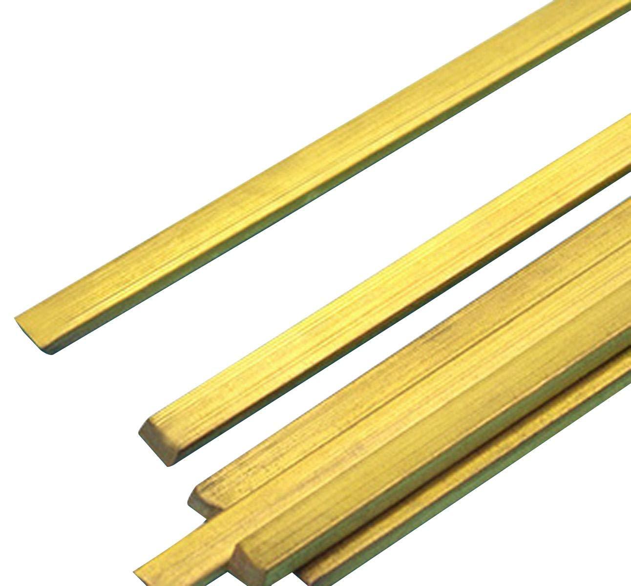 C360 Brass Flat Bar Sheet 5mm x 15mm x 250mm