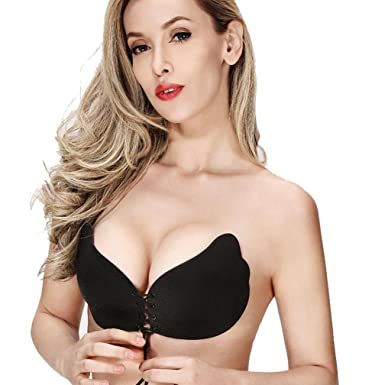 e73e05b070176 Janly® New Sexy Push up Seamless Bra Adhesive Silicone Backless Wedding  Bralette Strapless Invisible Women