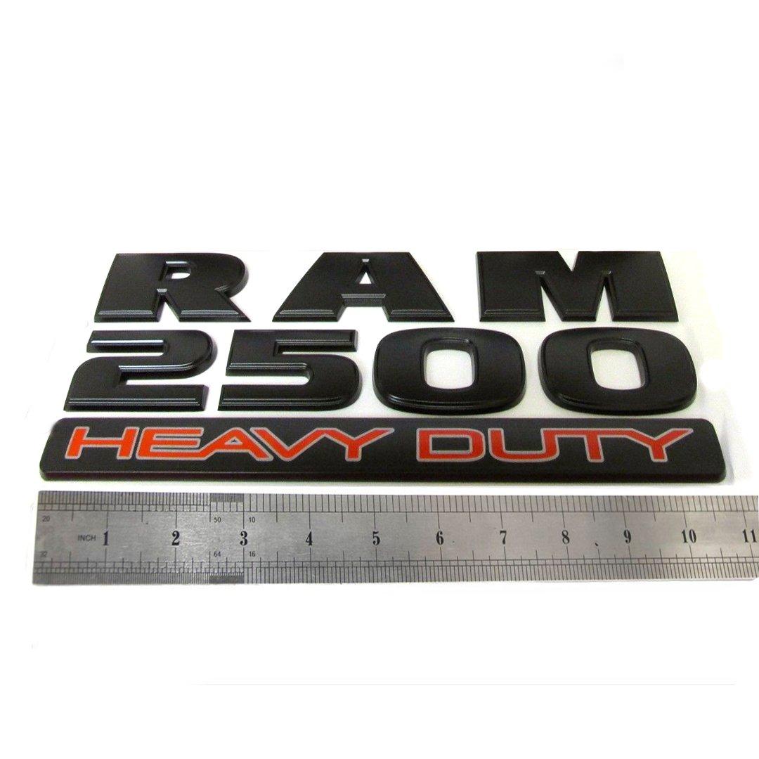 Yoaoo 2x GENUNE Black RAM 2500 Emblem Badge 3D Emblem Decals Nameplates Flat Letter OEM Matte