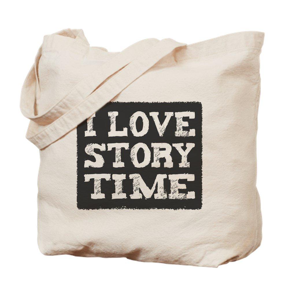 CafePress - I Love Story Time - Natural Canvas Tote Bag, Cloth Shopping Bag