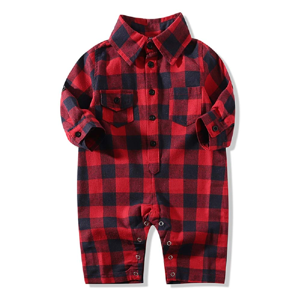 tommelise Toddler Baby Boys Girls Long Sleeve Romper Jumpsuit Outfit Clothes Spring Summer Autumn 1Pcs