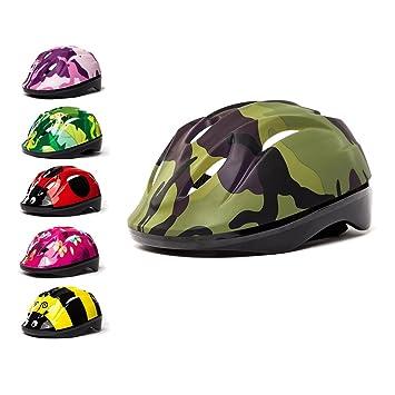 Casco 3Style Scooters® para niños con diseño de Camuflaje Verde, Ideal para Ciclismo y