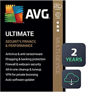 AVG Ultimate 2021 | Antivirus+Cleaner+VPN | 10 Devices, 2 Years [PC/Mac/Mobile Download]