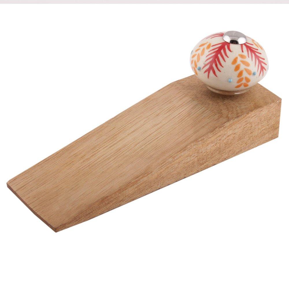 Indianshelf Juego de hecho a mano Golden madera de puerta de cerámica tapones Premium–Cuña para trabajo en todo tipo de suelos no estiramiento fuerte agarre