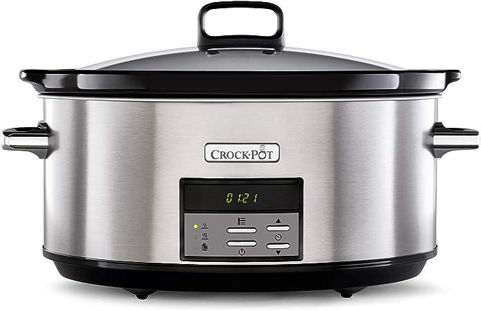 Oferta amazon: Crock-Pot CSC063X Olla de cocción lenta digital, 7.5 litros, Acero inoxidable