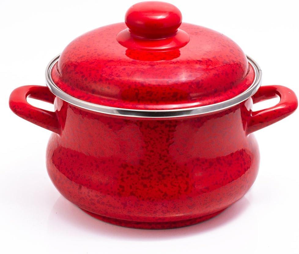 Enamel Stock Pot Ruby Enamel Cooking Pot Enameled Pot