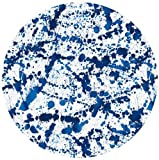 Hard Placemats with Felt Back Round Placemats Table Mats Blue Splatter Set of 6 Place Mats