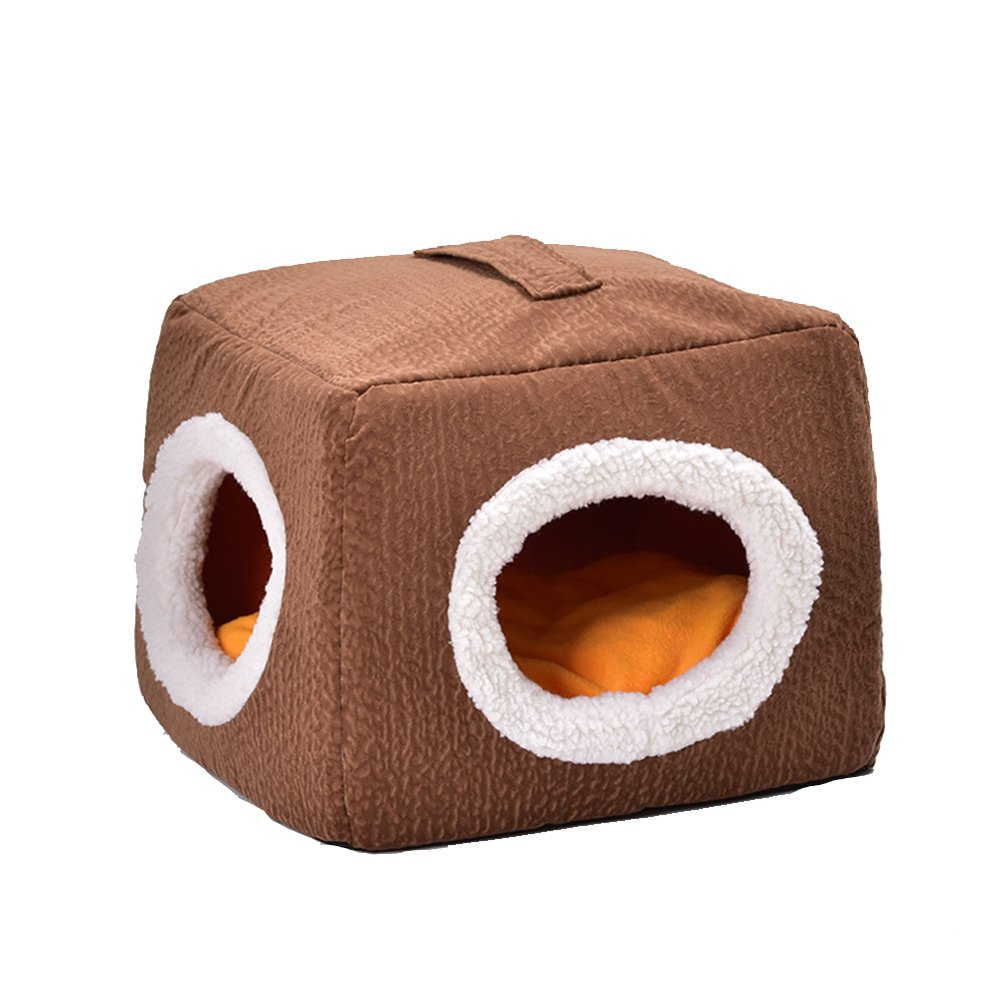 Aqi7 Round Hole Square Pet Room With Comfortable And Breathable Cat Bed, Suitable For Pets Up To 5 Pounds