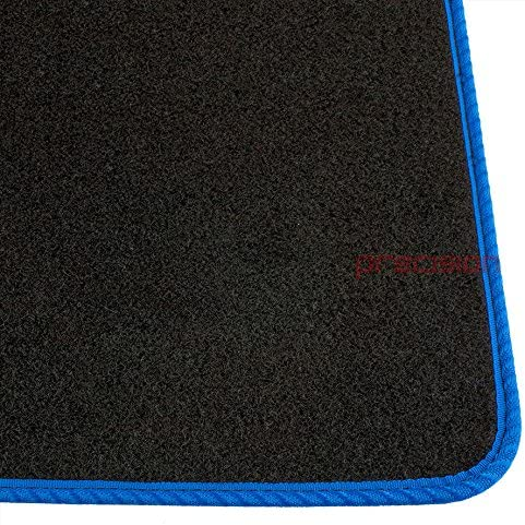Precision Tailor Fitted Black Classic Car Mats with Blue Solid for Ḟord Mondeo 2015-2018 PN.SSSQ215BLP