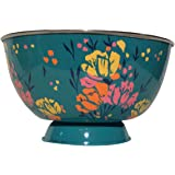 SALADIER SUR PIED COUPE EMAILLE ARTY TURQUOISE