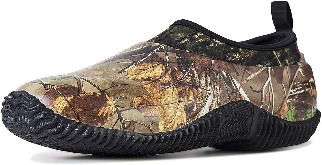 TENGTA Unisex Waterproof Rain Shoes Men Neoprene Rubber Yard Work Boots for Wet Weather Women Garden Shoes