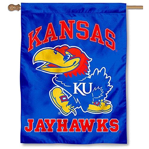 Kansas Jayhawks House (Kansas KU Jayhawks Double Sided House Flag)