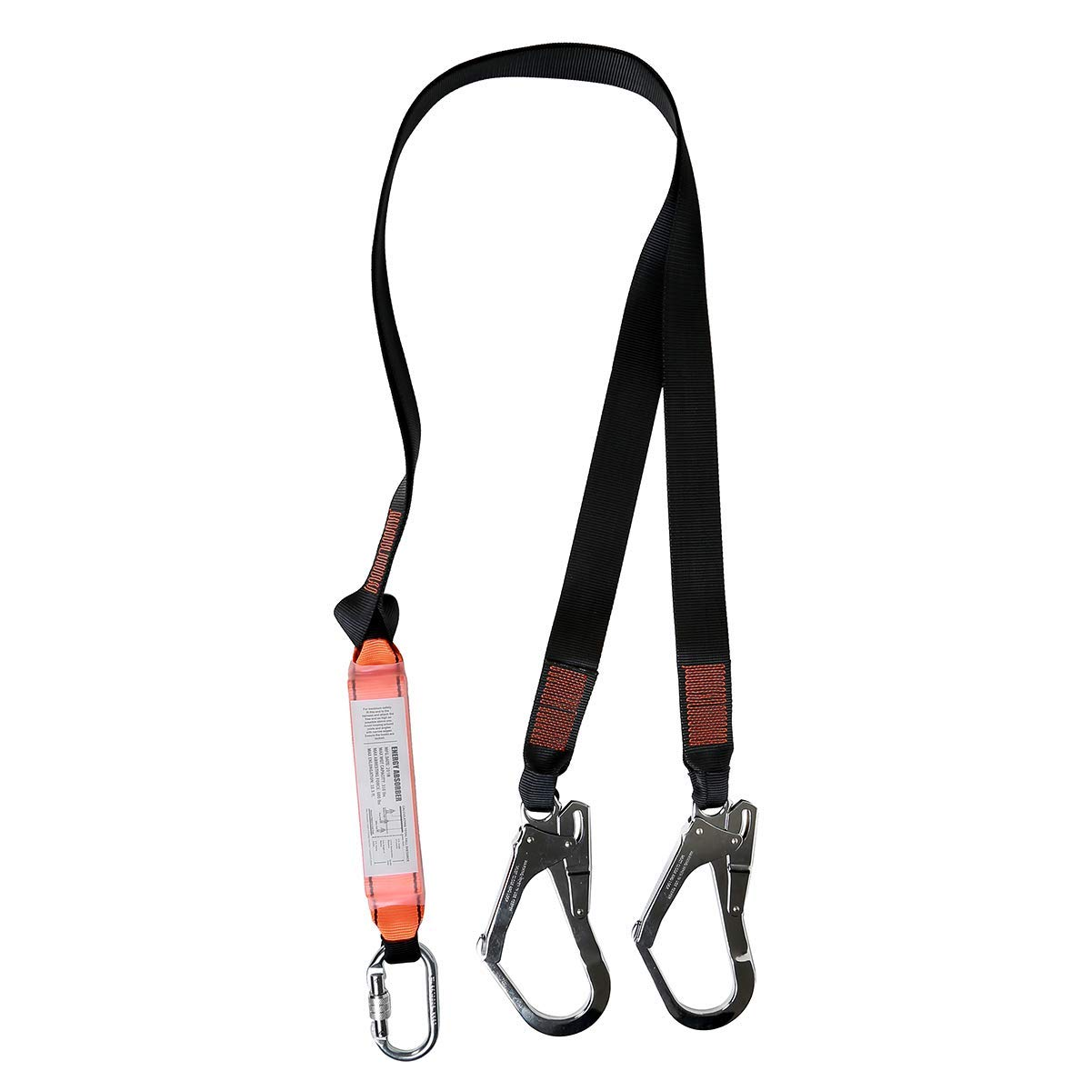 KSEIBI 422006 Single Leg Snap Hook and Two Scaffolding Hook w 6-Foot Internal Shock Lanyard Fall Protection Equipment for Safety Harness by KSEIBI (Image #2)