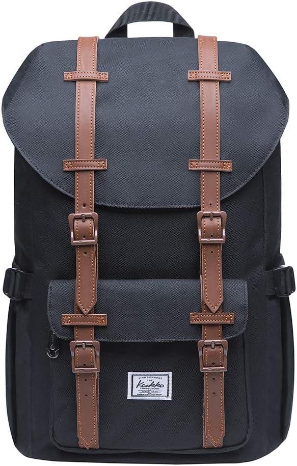 KAUKKO Laptop Outdoor Backpack, Traveling Rucksack Fits 15.6 Inch Laptop(5-7-Black)