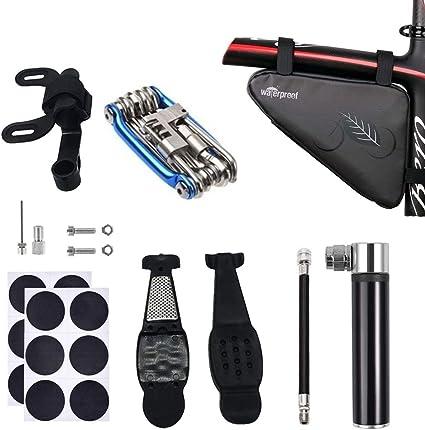Bike Cycle Bicycle Repair Tool Puncture Repair Kit With Pump Set Carry Case Bag