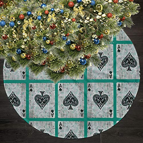 Wodehous Adonis Vintage Ace of Spades Card Poker Lover 35.5inch Christmas Tree Skirts Ornament Christmas Decoration New Year Party Supply
