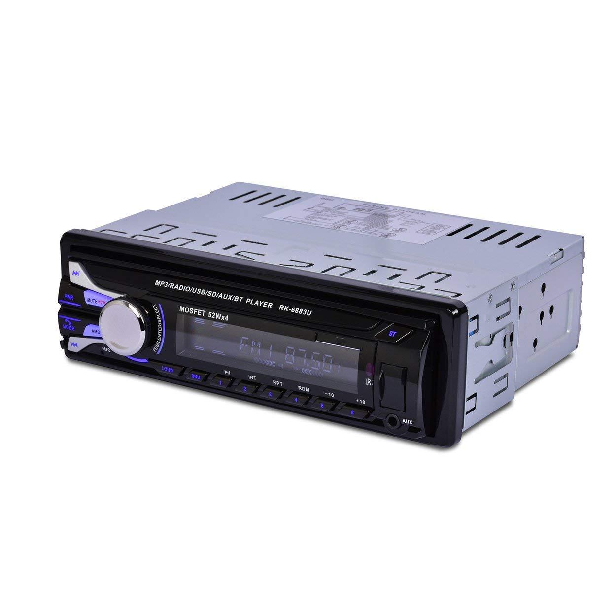 Lorenlli Fit RK-6883U Car SD Card Reader USB 2.0 Car MP3 Player With Bluetooth Detachable Panel FM Tuner Aux In Remote Control