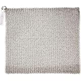 "Knapp Made Chainmail Dishcloth 8""x6"" - Top Rated All Purpose Kitchenware, Pots & Pans Cleaner - Recommended by Rachael Ray, America's Test Kitchen, The New York Times - Lasts a Lifetime"