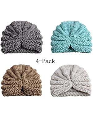Baby Boy's Knit Beanie Hats Cool Soft Cute Caps for Kids and Toddlers(4Pack)