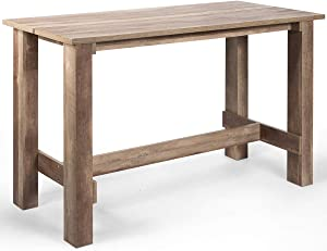 """Giantex Dining Table 55""""L x25.5""""W x35.5""""H Rectangular Dining Room Table Counter Height, Multifunctional Desk for Dining Room, Bar, Living Room, Study, Home, Office Bistro Table"""