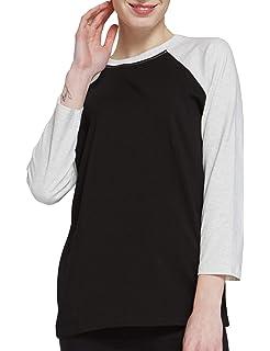 LEMONMOON Women Crew Neck 3 4 Sleeve Top Raglan Baseball Jersey T-Shirt e0b2dab48