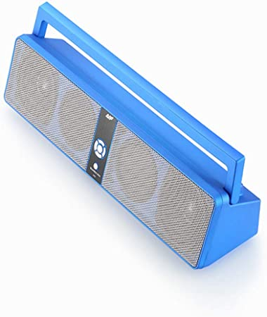 blue square bluetooth speaker