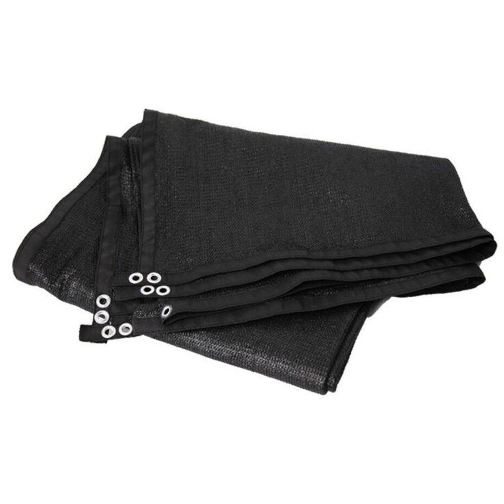 noir 2x2m AJZGF Tissu imperméable à l'eau imperméable Filet de l'ombre, 8 Broches Soleil Plantes horticoles Isolation à Effet de Serre terrasse Cour encryptées Ombre Filet à Mailles Net