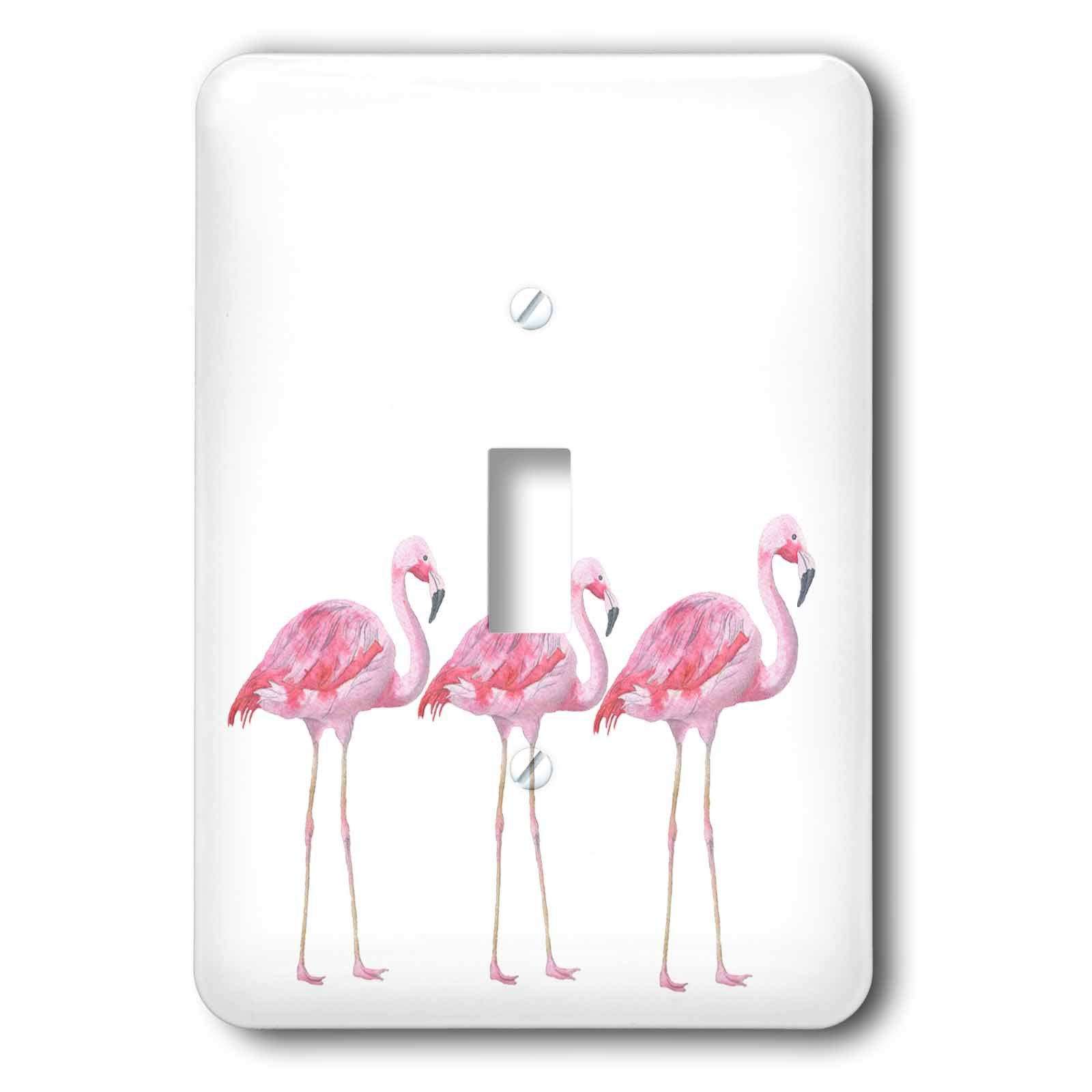 3dRose lsp_252317_1 Flamingos Birds Animals Wild Nature Illustration Single Toggle Switch