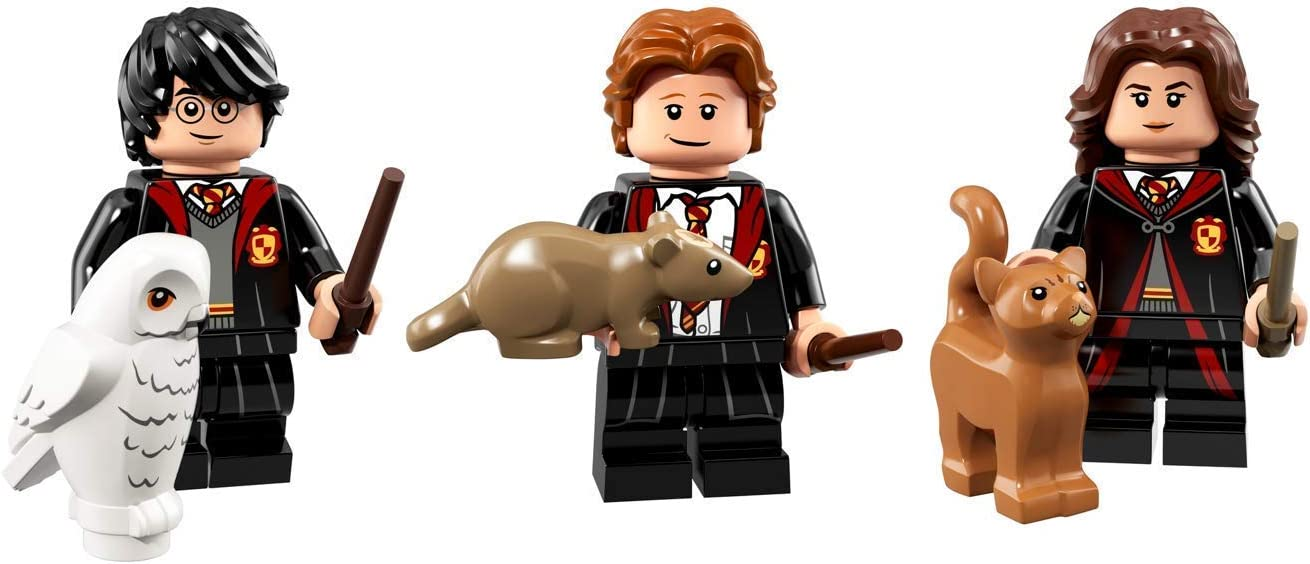 LEGO Harry Potter Collectible Minifigures Harry Potter, Hermione Grainger, and Ron Weasley